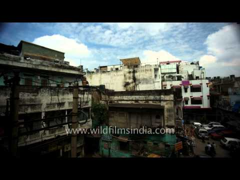 Time lapse of clouds over Paharganj