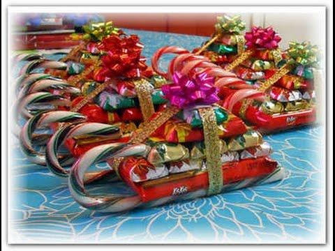 Сани Деда Мороза из шоколадки и конфет! Сладкий подарок к Новому году