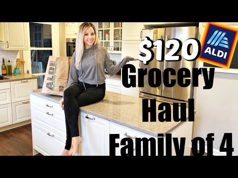 HUGE HEALTHY GROCERY HAUL ON A BUDGET + EASY CROCKPOT RECIPE // ALDI 2018
