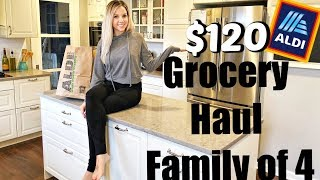 HUGE HEALTHY GROCERY HAUL ON A BUDGET + EASY CROCKPOT RECIPE // ALDI 2018