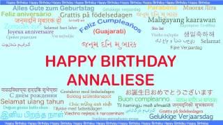 Annaliese   Languages Idiomas - Happy Birthday
