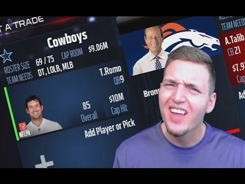 TONY ROMO TRADED TO BRONCOS? DALLAS COWBOYS REBUILD! MADDEN NFL 17