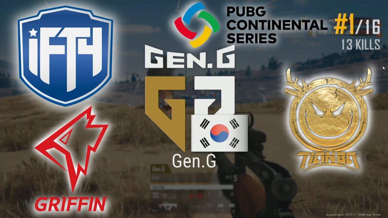 GEN.G Pio, Inonix, Loki & Aqua5 - INFANTRY - TIANBA - GRIFFIN - PUBG Continental Series 1- Match 13