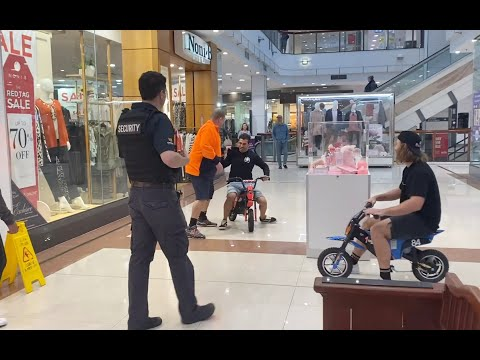 Motorbike Races in the Shopping Centre!