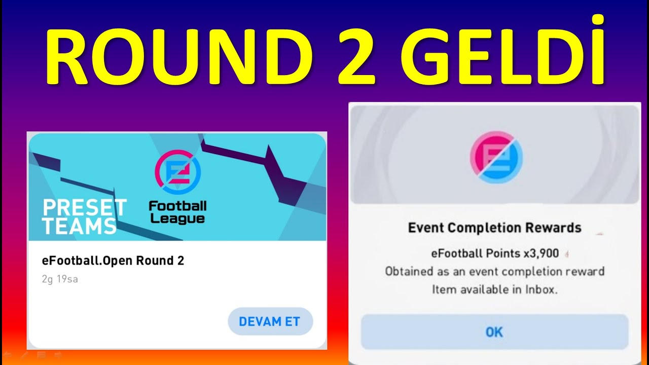 ROUND 2 GELDİ ! 3900 eFOOTBALL PUANI (Pes 2021 Mobile)