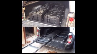 Diy truck bed drawer slides for organized tool storage metalwork diy how to