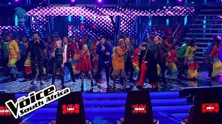 The Top 8 and the Mzansi Youth Choir – 'The Climb' | Live Shows | The Voice SA | M-Net