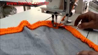 maquina de costura reta com aparelho de frufru  wmv