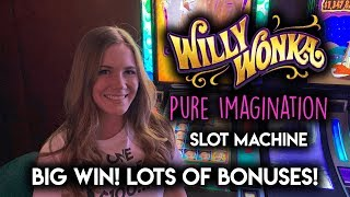 BIG WIN! MY BEST Session EVER! on Willy Wonka Pure Imagination Slot Machine!