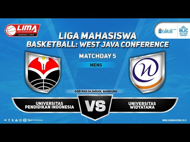 MEN'S UPI VS WIDYATAMA LIMA BASKETBALL: BLIBLI.COM WJC 2018