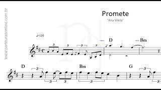 Baixar Promete - Ana Vilela | Partitura