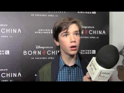 Daniel DiMaggio at the Born in China Premiere