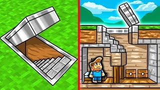 SECRET BASE CHALLENGE! (Minecraft Hidden House)