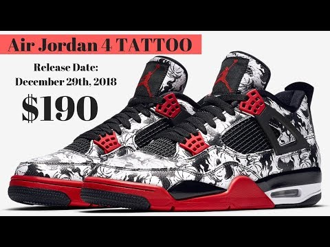 "21f5f7579acd The Air Jordan 4 ""Tattoo"" Release Date December 29th"