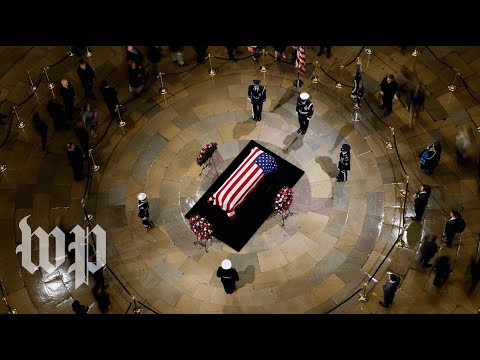 Day two of former president George H.W. Bushs funeral