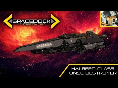 Halo: UNSC Halberd Class Destroyer feat. EckhartsLadder - Spacedock