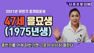 """[서울점집][고대점집] 2021년 하반기 토끼띠운세 47세 을묘생(1975년생) """"중반기를 거쳐 하…"""