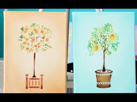 Como pintar cuadros peque o formato claudia kunze youtube for Ideas para pintar cuadros