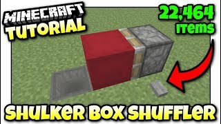 Minecraft PS4 - SHULKER BOX SHUFFLER [ Storage ] Redstone Tutorial - Xbox / MCPE / PS3 / Switch