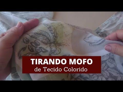 Como tirar mofo de tecido colorido - Toalha de Mesa
