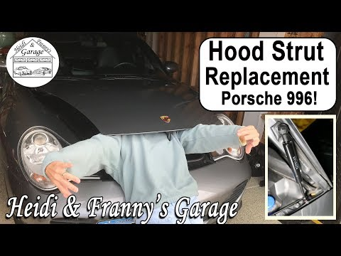 How to Replace a Hood Strut FAST!  (Porsche 996 Turbo)