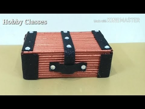Jewellery box    Best out of waste    Waste box and newspaper