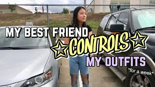my best friend controls my outfits for a week | Vanessa Nagoya