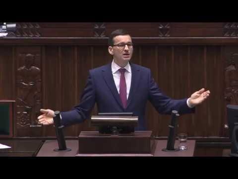 Premier Mateusz Morawiecki | Debata nad expose 12.12.2017