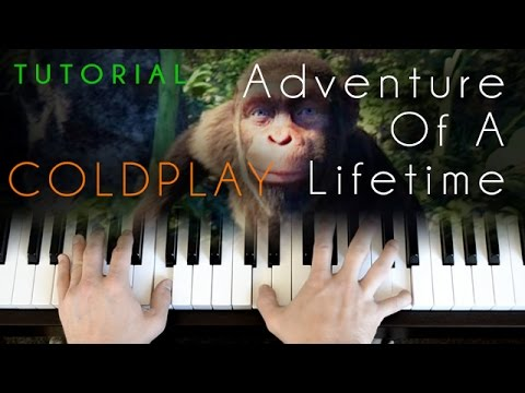Coldplay - Adventure Of A Lifetime (Live Lounge piano tutorial)