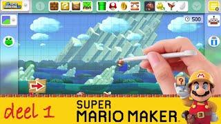 Super Mario Maker Nederlands levels bouwen – deel 1: monsters , vraagtekens, Bowser hakbijl,