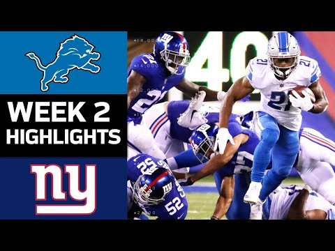 Lions vs. Giants | NFL Week 2 Game Highlights