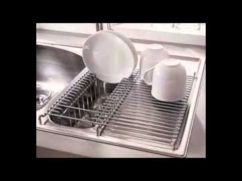 Kitchen Sink Dish Rack - YouTube
