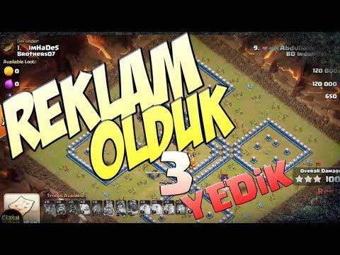 109 Bin Aboneli Yotuber'a Video Konusu Oldum 3 Yedik | Clash Of Clans