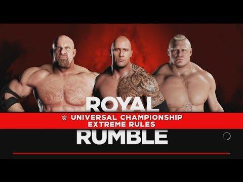 Brock Lesnar vs.The Rock vs Goldberg- Triple Threat  Match :WWE-2K18-Gameplay thumbnail