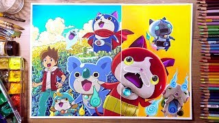 Yo-Kai Watch Movie 3 - Drawing VS Painting Challenge!