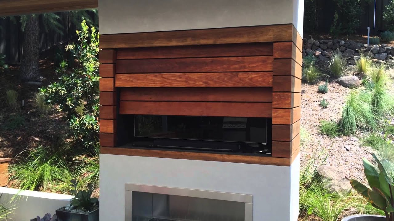 Exterior Automatic Cabinet Door For An Outdoor TV   YouTube