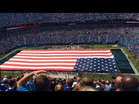 Lauren Duski sings national anthem at Carolina Panthers game