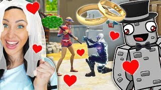 ALPHASTEIN macht SAFTIGES GNU einen Heiratsantrag in FORTNITE!!