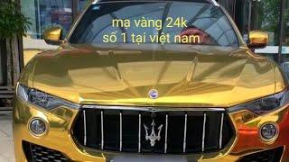mạ vàng 24k ô tô , mạ vàng logo ô tô công nghệ 2019