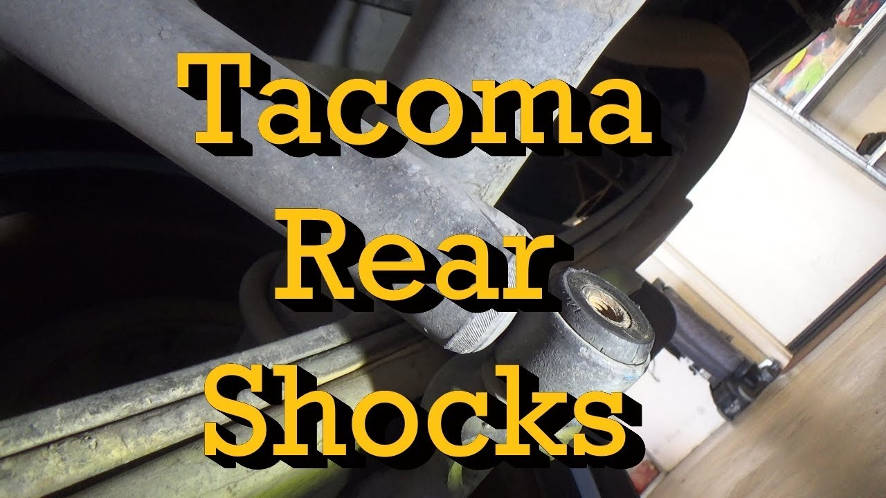 toyota tacoma rear shock replacement 2002 standard cab 4x2 2001