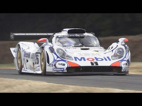 Porsche 911 GT1-98 Twin Turbo Flat-6 Engine Sound - 1998 24h of Le Mans winner at FoS 2018!
