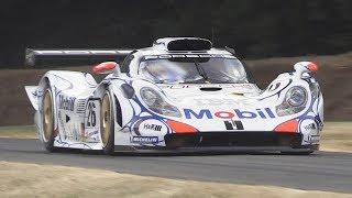 Porsche 911 GT1-98 Twin Turbo Flat-6 Engine Sound - 1998 24h of Le Mans winner at FoS 2018!