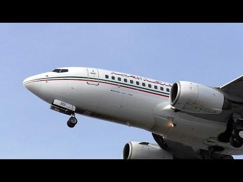 Royal Air Maroc Boeing 737-7B6 CN-RNM ETOPS AT 816 approaching at Berlin Tegel Airport