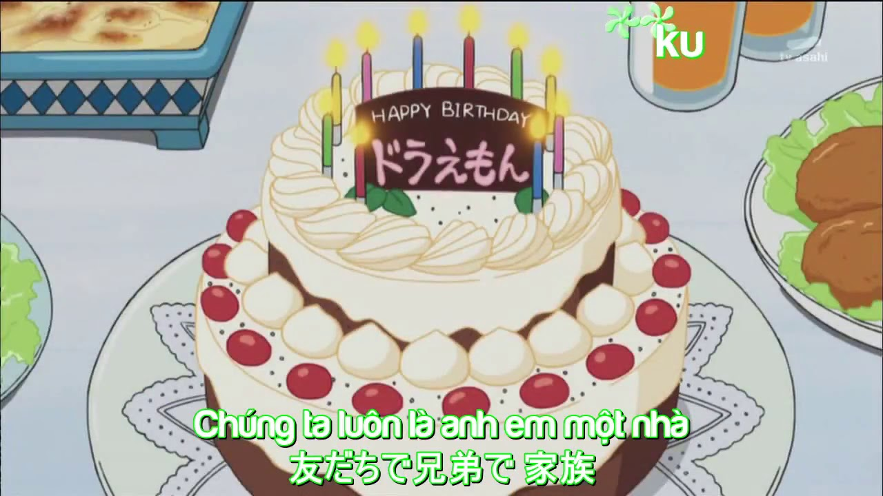 [Kara + Vietsub] Happy Birth Day Doraemon – Nobita , Shizuka , Jaian , Suneo , Doraemon song