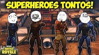 LOS SUPERHEROES MAS TONTOS! - MOMENTOS DIVERTIDOS (Funny Moments) | FORTNITE - PACO TORREAR