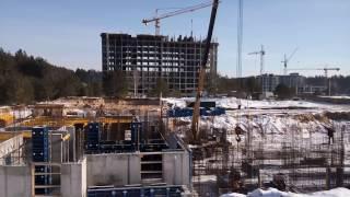 ЖК Грин Сайд (Greenside). Ход строительства Январь 2017г.