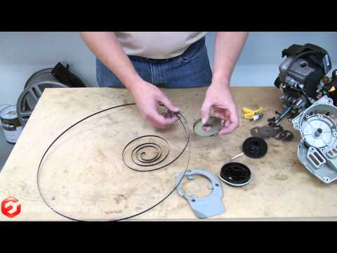 how to fix a lawn mower pull string
