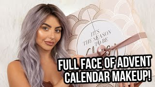 FULL (ISH) FACE USING ADVENT CALENDAR MAKEUP! TESTING NEW MAKEUP! GLOSSYBOX DISCOUNT CODE! ad