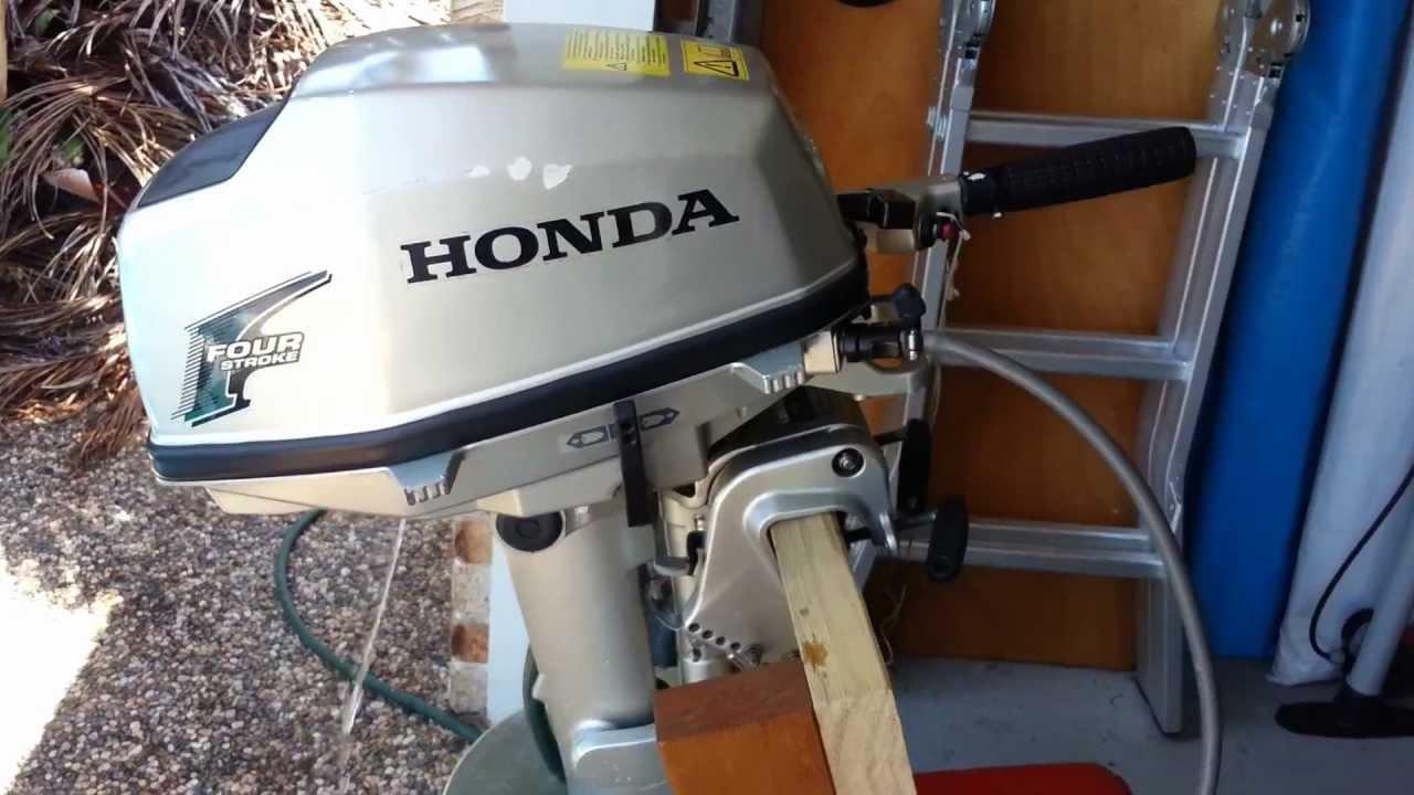 Honda 5 hp outboard youtube for Honda 2 5 hp outboard motor