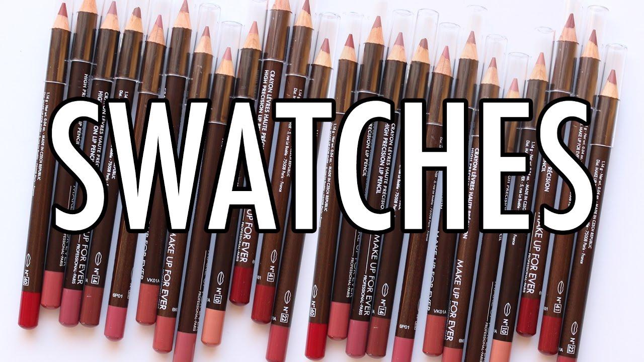 Ever High Precision Lip Pencil Swatches